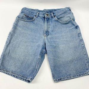 Vintage Lee Mens Shorts Blue Size 33 x 10